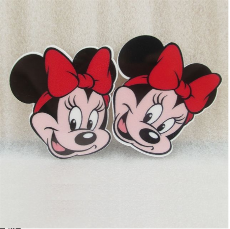 5 x 39MM MINNIE MOUSE RED BOW LASER CUT FLAT BACK RESIN HEADBANDS BOWS CARD MAKING PLAQUES